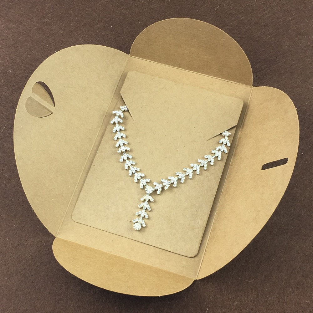 20pcs Paperboard Envelope + 20pcs Necklace Display Card,easy Carries Jewelry Bags Packing Accessories Gift Envelope 15x10
