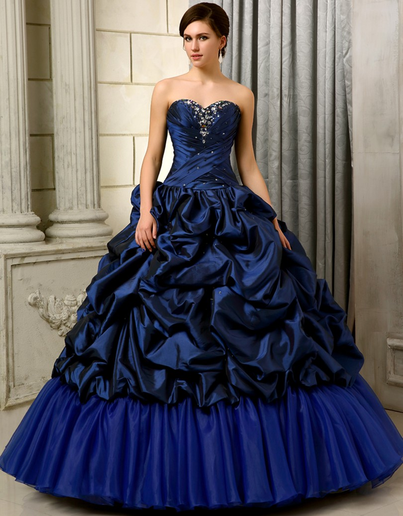 Royal Blue 2017 Ball Gown Quinceanera Dresses For 15 Years With ...