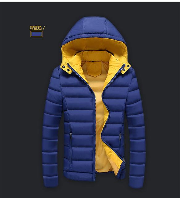 Vuelos baratos de China al por mayor 2016 otoño invierno nuevos Hombres prendas de vestir exteriores ocasional, además de terciopelo con capucha engrosamiento mantener caliente la chaqueta de algodón acolchado