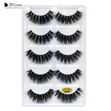 DUcare False Eyelash 5 Pairs Fake Lashes 3D Mink Extension Natural Thick Professional Makeup Beauty Essential