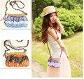 2015 Nova casual Bohemian das mulheres verão pequena bolsa de palha praia Buyi étnica bolsa de ombro crossbody bag bolsa sac a principal feminina
