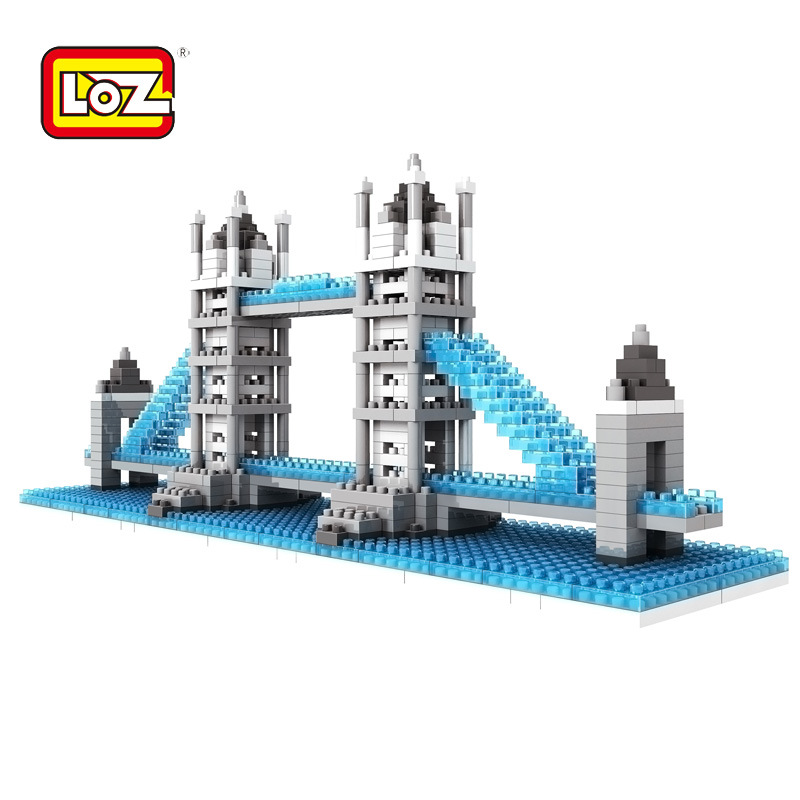 Loz World famous Architecture nanoblock Tower Bridge London UK city mini diamond building block model bricks educational toys loz 9402 transformation optimusprime diamond bricks minifigures building block best legoelieds toys