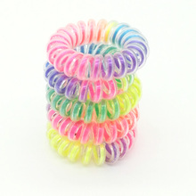Lot  10 Pcs 3.5cm Colorful Hair Scrunchy Korean Telephone Wire High Elastic Rope Band Accessory