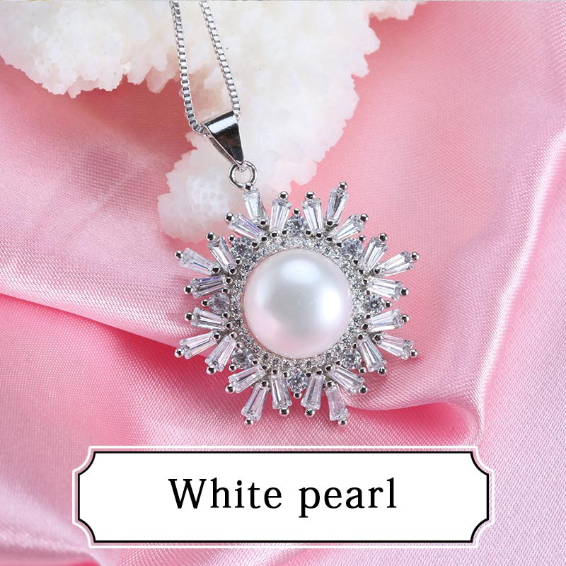 Luxury jerwelry 11 12mm large pearl pendant necklace top quality luxury jerwelry 11 12mm large pearl pendant necklace top quality snowflakes necklace for women 925 silver gift pendant in pendants from jewelry mozeypictures Gallery