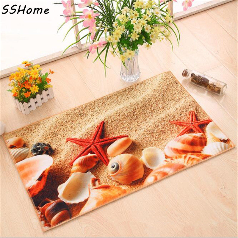Entrance Doormats Coral Velvet Flannel Memory Cotton Door MAT 3D Printed Carpet Living Room Bedroom Floor Mats Kitchen Rugs