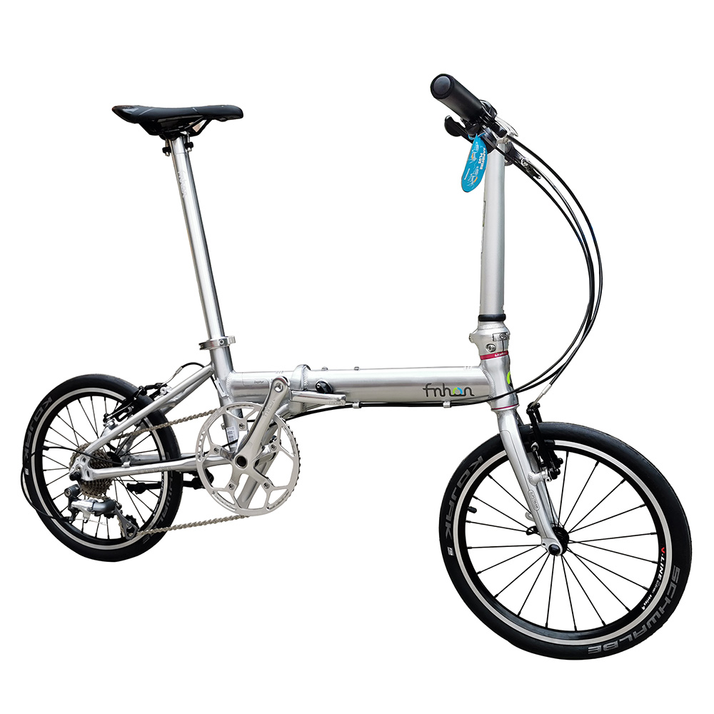"Fnhon Zephyr Alloy Folding Bike 16/"" 349 Urban Commuter Bicycle V Brake 9 Speed"