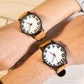 Fashion Couple Watch Lovers Business Casual Wristwatch Leather Quartz Watch Women simple dress clock hours relogio feminino