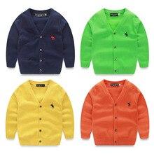 Хан издание детской одежды мальчик 2016 детей в весна и осень снаряжение новых вязать v-образным вырезом тонкий свитер кардиган