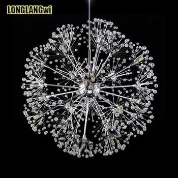 New Desgin modern crystal lamp chandelier Dandelion chandeliers lustre luminaire LED crystal light for dining room lighting