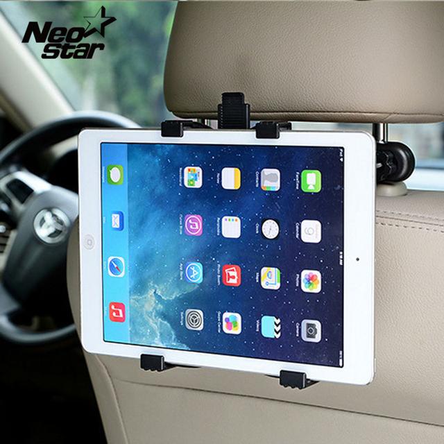 Assento de carro de volta encosto de cabeça montar titular para ipad 2 3/4 ar 5 ar 6 ipad mini 1/2/3 air tablet samsung tablet pc suportes suporte universal