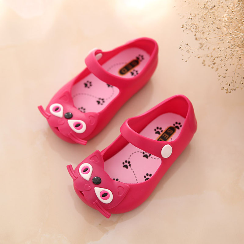 New ChildS Summer Girls Sandals Kids Shoes Baby Boys Sandals Cartoon Flowers Candy Colors Rubber Shoes pink