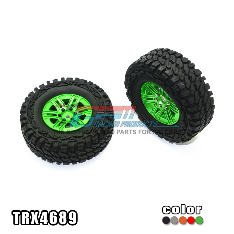 TRAXXAS TRX-4 TRX4 82056-4 Wheels hub +climbing tires aluminum alloy 6 flower stable durable - 2pcs /set TRX4689 free shipping stable page 4