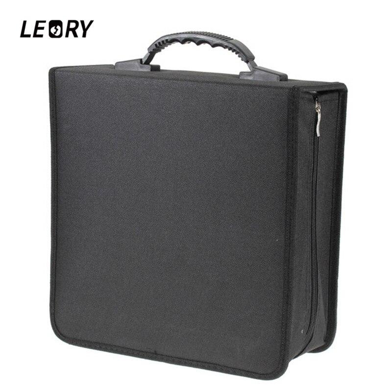 LEORY 320 Sleeves Black CD DVD Dics Media Storage Portable Carry Bag Case Wallet Holder Box Universal CD Case portable pp1440 cd zippered bag black page 6
