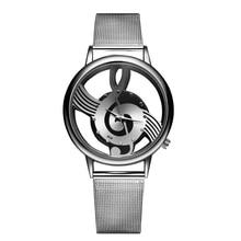 2017 Nueva Moda de Alta Calidad Reloj de Diseño Único de Música Reloj de Cuarzo Vestido de Los Hombres Relojes Hombre Relojes de Pulsera relogio masculino
