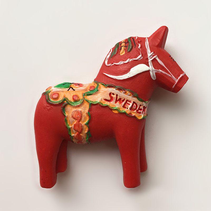 Новый Ручная роспись милые Швеция дара троянский 3D Магниты на холодильник туризма Сувениры холодильник магнитная Стикеры дома decortion