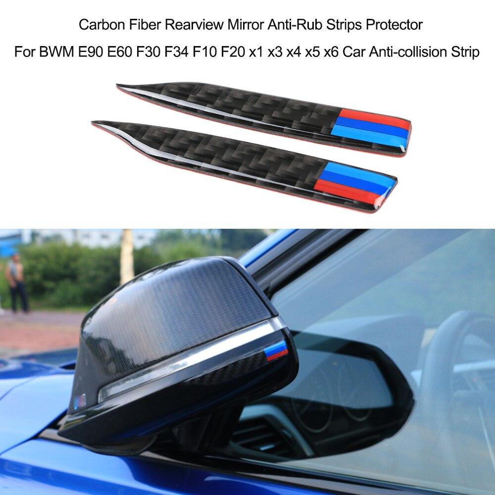 Image 2 - Карбоновое зеркало заднего вида против трения защитные полоски для BMW E90 E60 F30 F34 F10 F20 x1 x3 x4 x5 x6 автомобильная полоса предотвращения столкновений-in Наклейки на автомобиль from Автомобили и мотоциклы