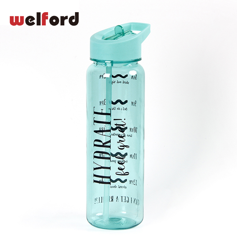 750ML Sport Water Bottle Tritan Plastic Bottle for Water With Straw Lid Portable Outdoor Tour Hiking Camping  BPA Free Drinkware-in Water Bottles from Home & Garden on AliExpress