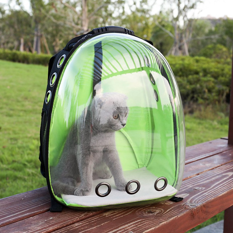 Space Capsule Shaped Dog Cat Carriers Travel Carrying Breathable Shoulder Backpack Outside Portable Travel Bag Pet Products