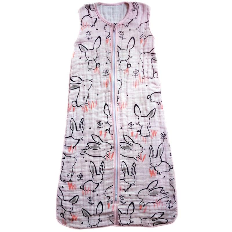 Baby-Sleeping-Bag-SleepSack-Muslin-Blanket-Thin-Soft-Vest-Type-Cotton-Gauze-Newborn-Baby-Tracksuit-Sleepwear-83CM90CM-1