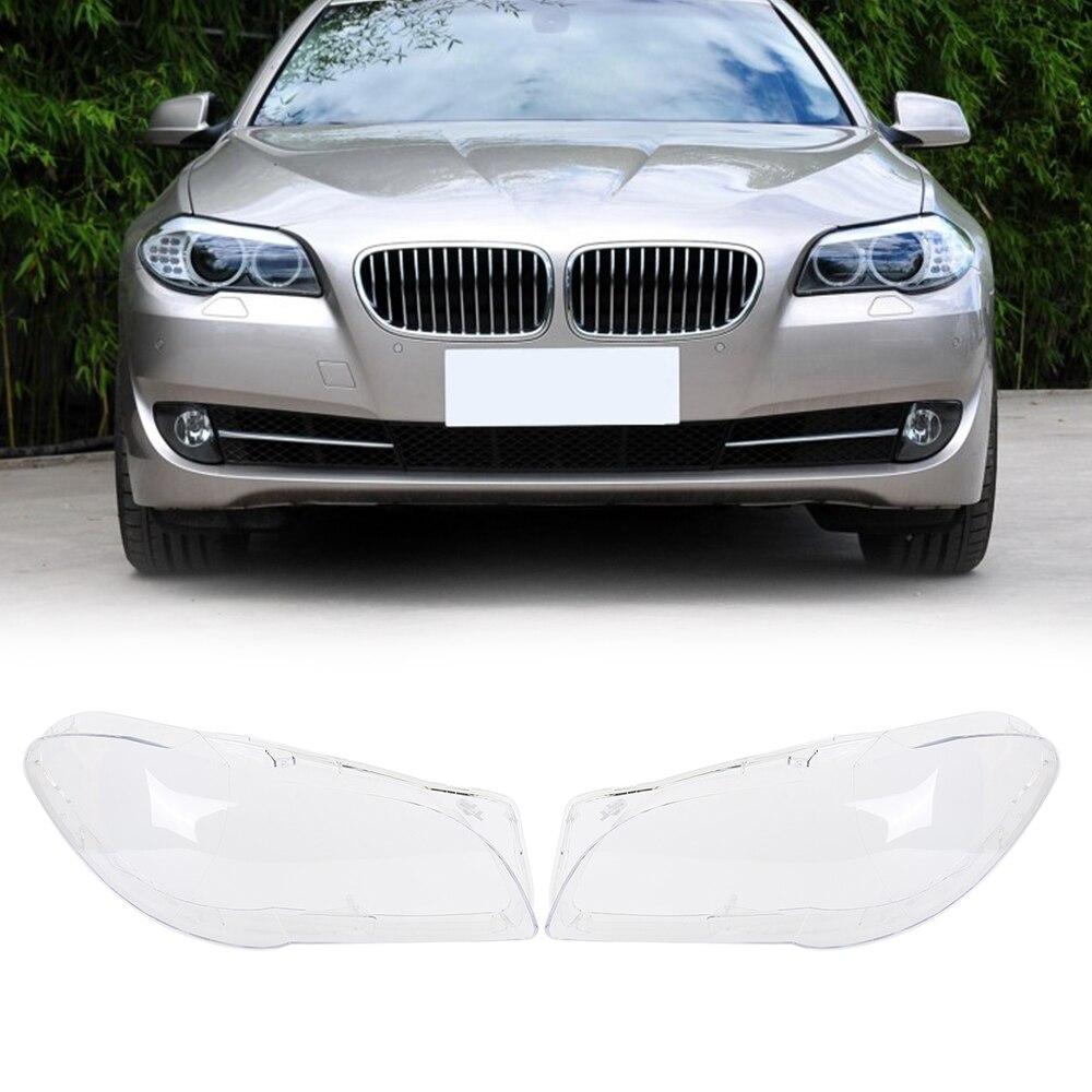 Пара линз пластик передней крышки светильника лампы абажуры для BMW 5 серии F10 F11 для ЛКИ ЛКИ Ф18 ЛКИ 2010-2016