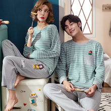 79f2ef8afc J Q New Men And Women Matching Pajamas Cotton Pajamas Leisure Home Suits Couple  Pyjamas Brand Matching