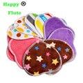 HappyFlute mamá almohadilla de tela del estilo del corazón de bambú minky lactancia almohadilla de amamantamiento almohadillas resuable lavable fábrica al por mayor venta
