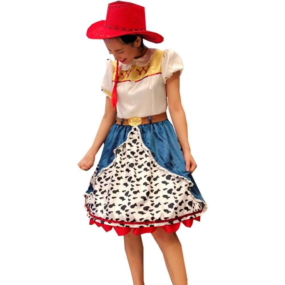 60b71dec30474 2018 Toy Story La Yodeling Cowgirl Jessie traje Cosplay Halloween trajes de  Carnaval para adultos y