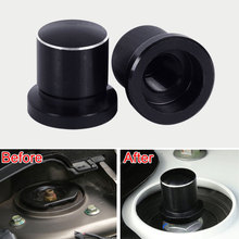 Black 2pcs Dustproof Shock Absorber Screws Cap Cover Protector For 370Z Altima Frontier Murano X-Trail Altima Qashqai 2008-on(China)