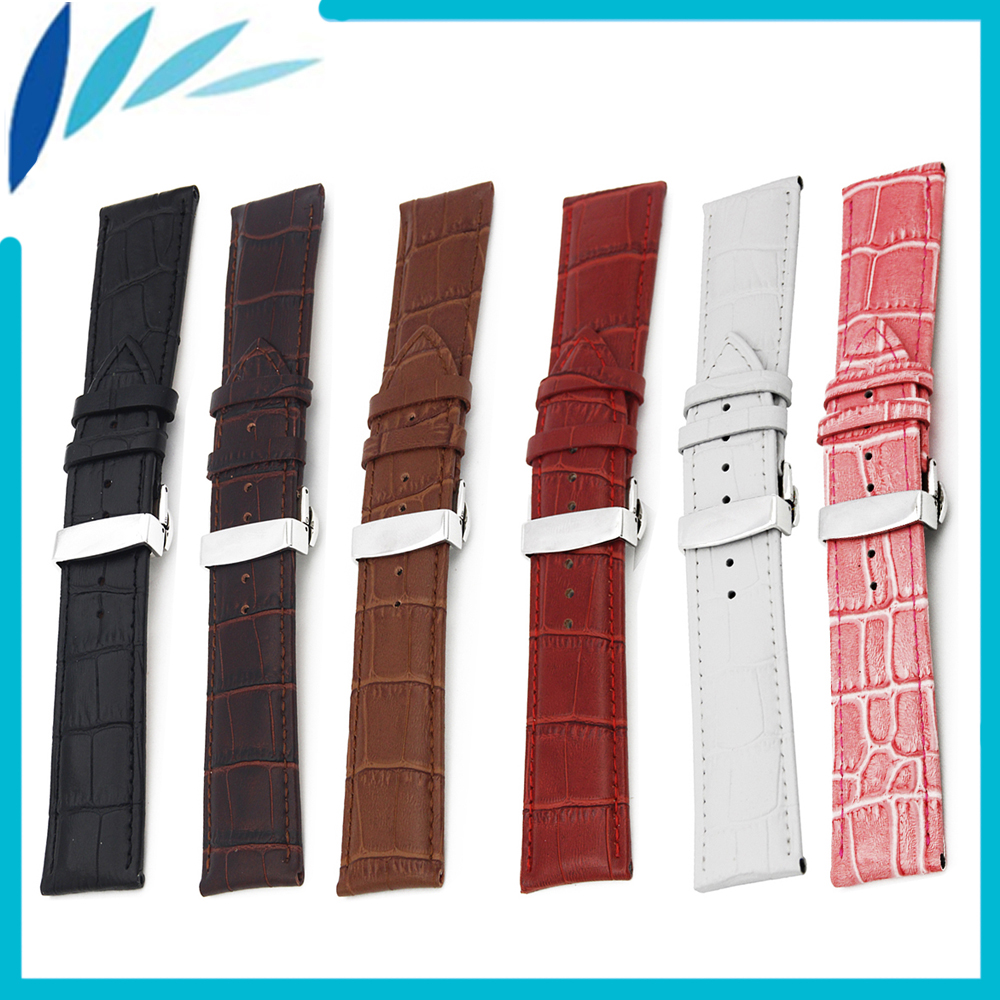 Genuine Leather Watch Band 12 14 16 17 18 19 20 21 22mm for Timex
