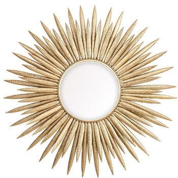 European Luxury Wrought Iron Flower Decorative Mirror 2