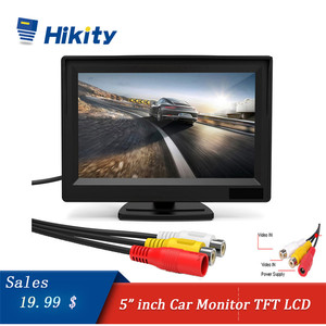 Image 1 - Hikity Car Monitor TFT LCD Color Screen 2 Video Inputs 2 Brackets For Rear View Backup Reverse Camera DVD Car Rear View Monitor