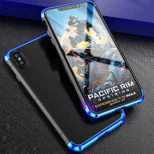 Aluminum Metal Bumper Phone Case For iPhone XS MAX XR Luxury 360 Full Armor Matte PC Cover 8 7 6S Plus Cases