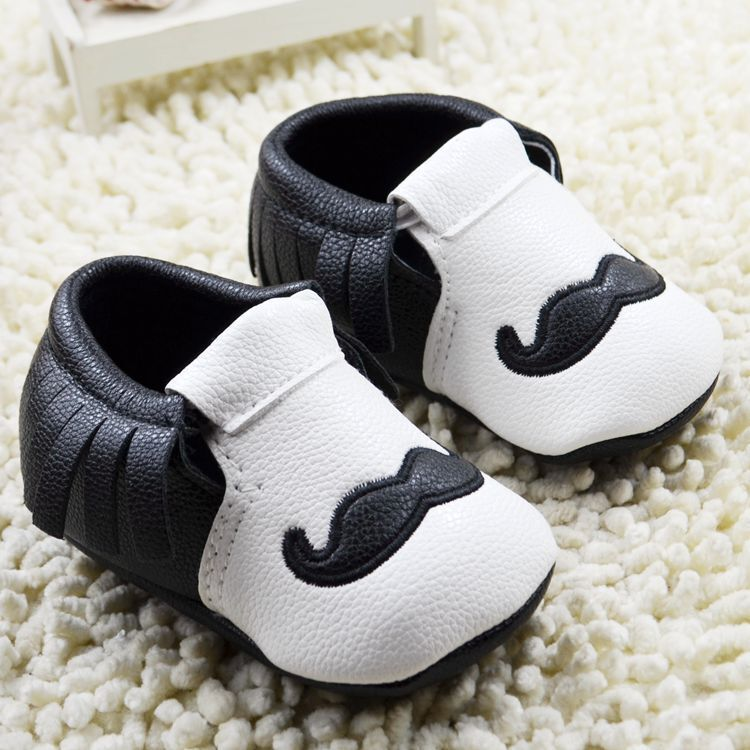 Baby Boy Girl Moccasins Moccs Shoes First Walkers Fringe Soft Soled Non-slip Footwear Crib Shoes PU Leather Newborn Boots