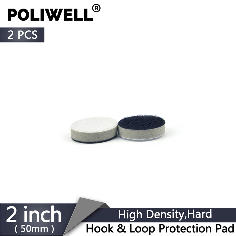 POLIWELL 2PCS 2 Inch Hard Sponge High Density Interface Pad For Hook&Loop Backing Pad Sanding Buffering Pads Surface Protection