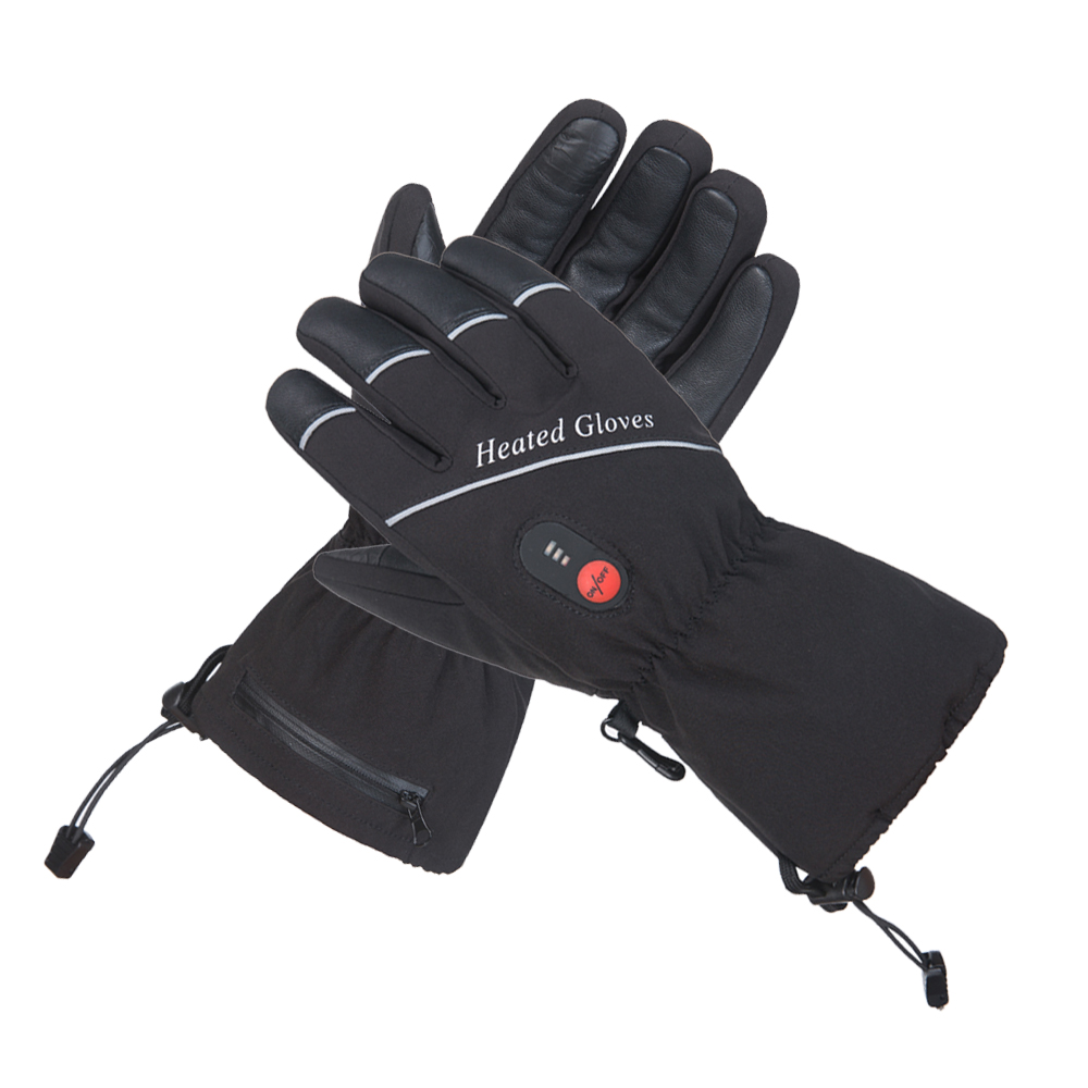 New Heating Gloves With Battery Winter Warm Thermal Heated Gloves Men Women Skiing Camping Riding Motocycle Gloves Size S-XXL pair of sweet cashmere hooded women s winter gloves with exposed fingers