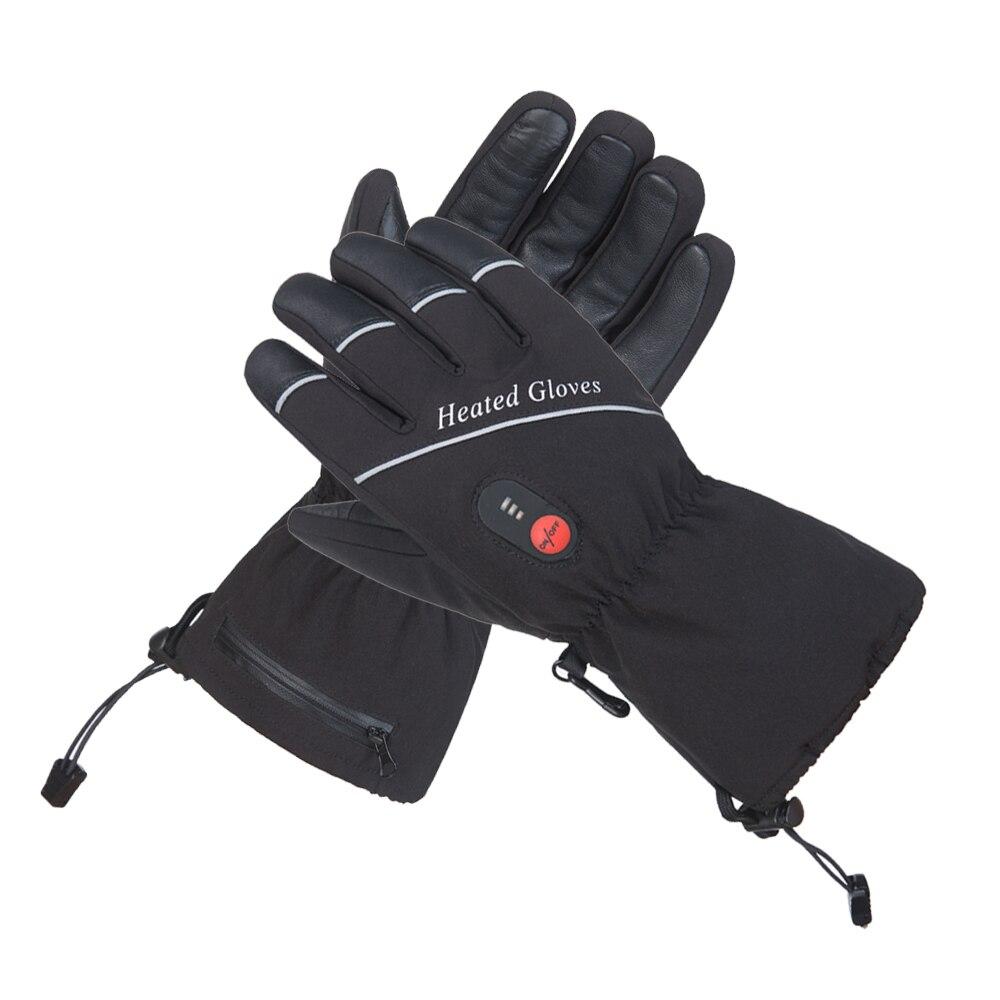 Nouveau Chauffage Gants Avec Batterie Hiver Chaud Thermique Chauffée Gants Hommes Femmes Ski Camping Équitation Moto Gants Taille S-XXL