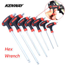 KENWAY 7 Size Universal MTB Road Bike Tool 2.5-10mm Alloy Steel Allen Key Bicycle Repair Tool Kits for Brake Pedal Headset Stem(China)