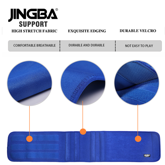 JINGBA SUPPORT Slim fit Abdominal Waist sweat belt Sports Waist trimmer Support Safety Back Support Lumbar Band Protective 4