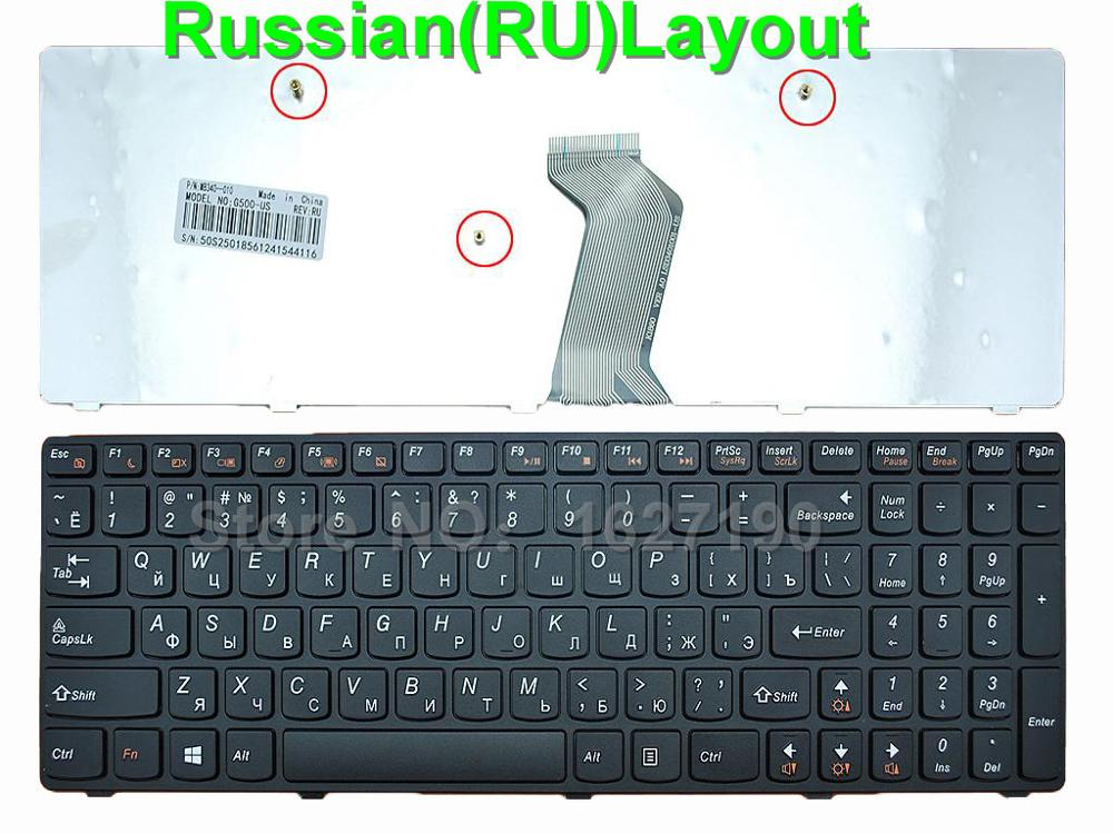 New RU Russian Keyboard for LENOVO G500 G505 G510 BLACK FRAME BLACK For Win8 RU Laptop Keyboards image