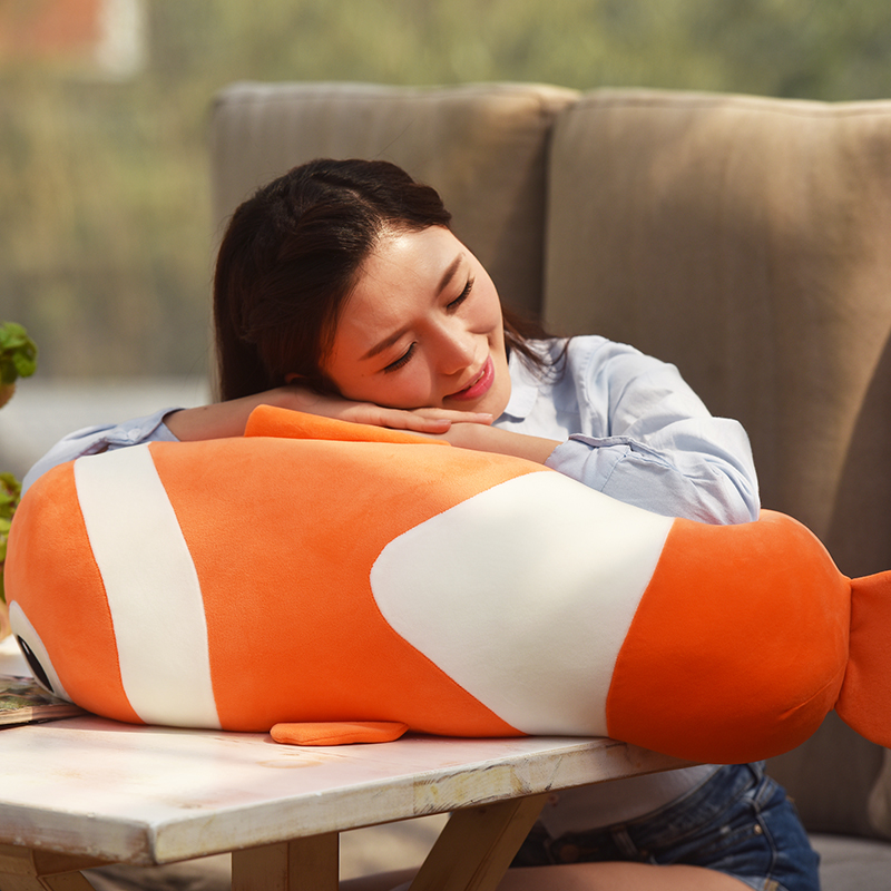 big plush fish toy creative Clownfish pillow gift about 70cm lovely giant panda about 70cm plush toy t shirt dress panda doll soft throw pillow christmas birthday gift x023