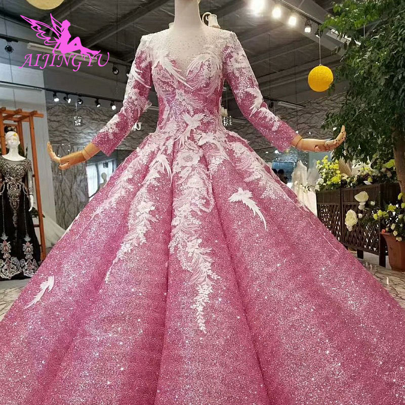 AIJINGYU Sexy Bride Gowns Sri Lanka Brides Wholesale In Dubai Online Shop China Lace Dubai Gown New 2018 Wholesale Wedding Dress