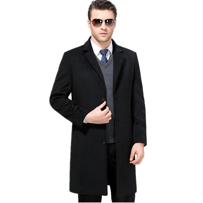 Merk 2019 Winter Wollen Jas mannen Uitloper Jas Verdikking Heren Jas Parka Man Kasjmier jas Blend Big size 4XL ZZ046-in Wol en mengsels van Mannenkleding op  Groep 1
