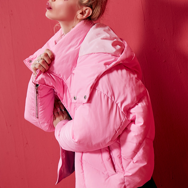 White Qualité Urltra Manteau 2019 pink Mode Femme Veste Pour Supérieure Grande lumière Décontracté Nouvelle D'hiver Doudoune Lxt742 Taille Chaud Pain Paragraphe qw1ZAExH