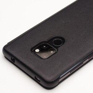 Image 3 - QIALINO יוקרה אמיתי עור Flip Case עבור Huawei Mate 20 אופנתי בעבודת יד Ultra Slim כיסוי עם תצוגה חכמה עבור Mate 20 פרו