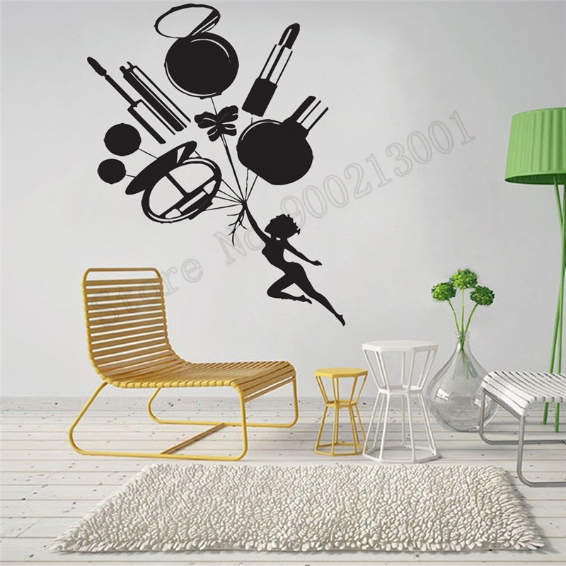 Inspire Girls Passion Be Beautiful Room Sticker Art Removeable Vinyl Home Decor Beauty Salon Poster Mural Modern Ornament LY765 in Wall Stickers from Home Garden