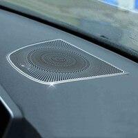 Aluminium Center Dashboard Speaker Frame Cover Trim For BMW X6 F16 F86 2015 2017 & X5 F15 2014 2017