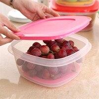 Good Sealability Kitchen Storage Box Vegetable Fruit Quick Drain Transparent