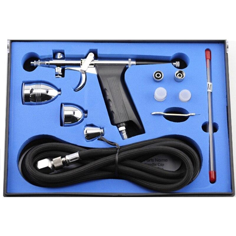 Горячая двойного действия Аэрограф в наборе с аэрографом шланг и распылитель для наклейки для ногтей спрей для тела торт делая модели игрушек