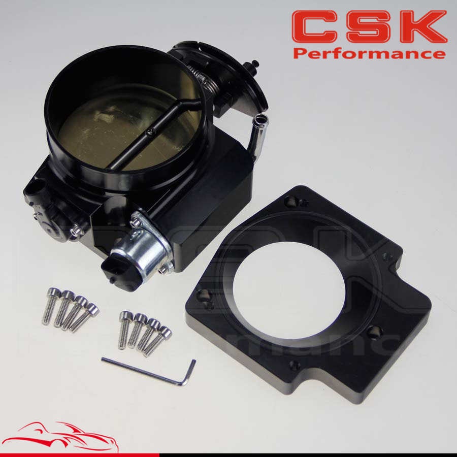 For LS1 LS2 LS3 LS6 LS7 LSX 102mm Throttle Body w// TPS /& Manifold Adapter Plate