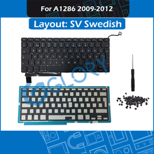 2009-2012 SV Swedish Layout A1286 Keyboard for Macbook Pro 15″ A1286 Keyboard Replacement with Backlight Screws
